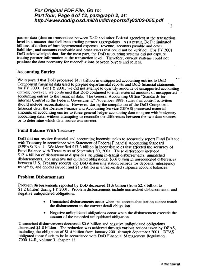 scanned page from DoD document - click here to see complete original